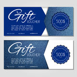 Gift voucher vector illustration coupon template for company Royalty Free Stock Images