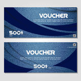 Gift voucher vector illustration coupon template for company Stock Photo