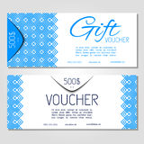 Gift voucher vector illustration coupon template for company Royalty Free Stock Photography