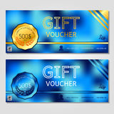 Gift voucher vector illustration coupon template for company Royalty Free Stock Photo