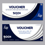 Gift voucher vector illustration coupon template for company. Gift voucher, voucher vector, voucher illustration, coupon and voucher template for company Royalty Free Stock Photography