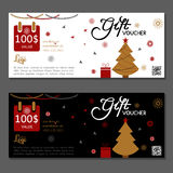 Gift voucher. Vector, illustration. Template gift voucher at a discount. Vector, illustration. Card template Royalty Free Stock Images