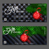 Gift voucher. Vector, illustration. Template gift voucher at a discount. Vector, illustration. Card template Royalty Free Stock Photos