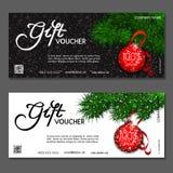 Gift voucher. Vector, illustration. Template gift voucher at a discount. Vector, illustration. Card template Stock Photo