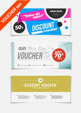 Gift voucher vector set. Sale voucher vector illustration. Store Stock Photo
