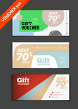 Gift voucher vector set. Sale voucher vector illustration. Store Royalty Free Stock Images