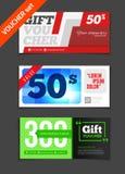 Gift voucher vector set. Sale voucher vector illustration. Store Royalty Free Stock Image