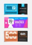 Gift voucher vector set. Sale voucher vector illustration. Store Royalty Free Stock Photo