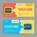 Gift Voucher. Vector Stock Photo