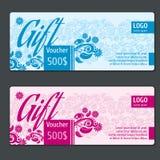 Gift voucher vector template Stock Photos
