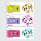 Gift voucher Stock Image