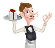 Gift Waiter Perfect Sign Royalty Free Stock Images