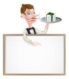 Gift Waiter Sign Stock Images