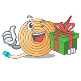 With gift water hose to extinguish the fire. Vector illustration royalty free illustration