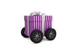 Gift on wheels Stock Images