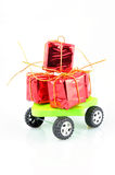 Gift on wheels Royalty Free Stock Image