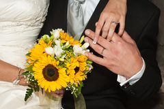 gift whit för bukett Royaltyfri Bild
