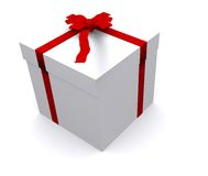 Gift in white Stock Photography