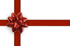 Gift White Background. Gift ribbon and bow on a white background royalty free illustration