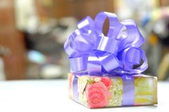 Gift. On white background royalty free stock photography