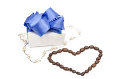 Gift on the white background Royalty Free Stock Photos