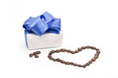 Gift on the white background Royalty Free Stock Image