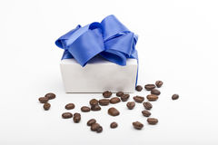 Gift on the white background Royalty Free Stock Images
