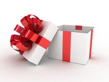 Gift white box. 3D images Royalty Free Stock Photos
