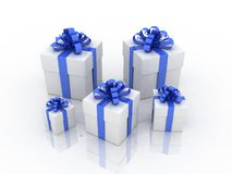Gift white box Stock Photo