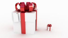 Gift  white box Royalty Free Stock Image