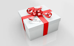 A Gift in a white cardboard Royalty Free Stock Image