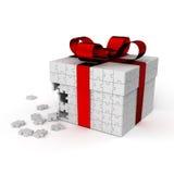 Gift_white de los rompecabezas Imagenes de archivo