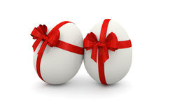 Gift White Eggs Decorative Royalty Free Stock Photography