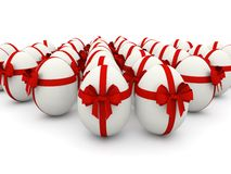 Gift White Eggs Decorative Stock Images