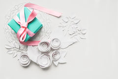 A gift on a white napkin Stock Images