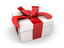 Gift, white and red Stock Photography