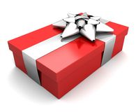 Gift, white and red Royalty Free Stock Image