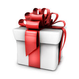 Gift white and red ribbon Royalty Free Stock Photo