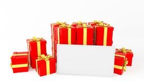 Gift whiteboard Stock Photos