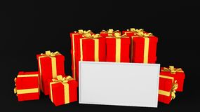 Gift whiteboard Stock Images