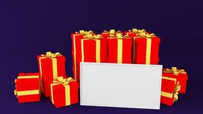 Gift whiteboard Royalty Free Stock Photography