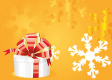 Gift on winter background Royalty Free Stock Photography