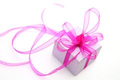 Gift With A Bow Royalty Free Stock Image