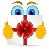 Gift With Red Bow Royalty Free Stock Photo