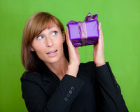 Gift woman Royalty Free Stock Photos