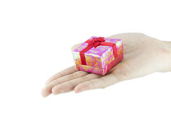 Gift in woman hand. Stock Images