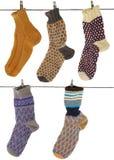 Gift woolen sock. Of the handjob binding Stock Photo