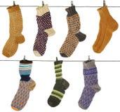 Gift woolen sock stock photos