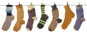 Gift woolen sock royalty free stock photo
