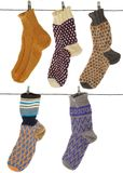 Gift woolen sock Royalty Free Stock Photos